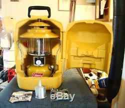 Nice Coleman 228H Gold Bond Lantern withCase/Papers/Funnel USA February 1974
