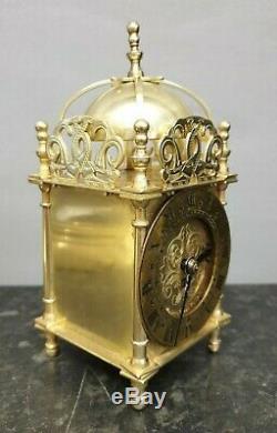 Quality Mechanical Smiths Brass Lantern Style Clock