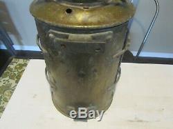 RARE Antique Nautical Ships Lantern Old Brass Vtg Original Light UNIQUE LOOK
