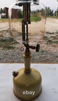 RARE VINTAGE COLEMAN LAMP PAIR! 2-MODEL 143's WITH ORIGINAL GLOBES, BOTH WORK