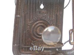 Rare Antique Dietz No. 2 Blizzard Dash Lamp Vintage Embossed Glass Lantern Storm