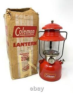 Rare Coleman 200a Bright Red Lantern July 1961 Original Box Excellent Condition