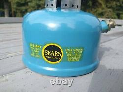 Sears Blue Model 476.72211 Single Mantle Lantern Made By Coleman Co In 1968