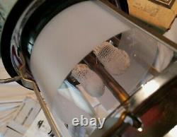 Sears Model 72325 Original Pyrex Frosted Globe 8/73 Clean Works Coleman + Box