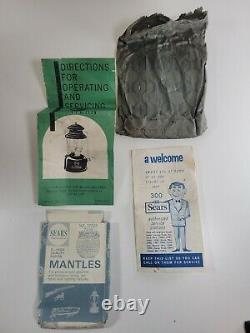 Sears Robuck Single Mantle Lantern (G1L) Model 476.74550 Blue Black 1 67 No 7115