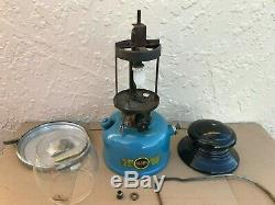 Sears Roebuck Lantern Single Mantel Dated 1-66 withClamp On Base Parts Caddy