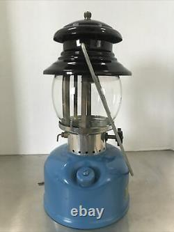 Sears Vintage Black And Blue Single Mantle Lantern Made By Coleman