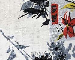Size 12 1950s Sun Dress Asian Lanterns Novelty Print Cotton Summer 40s 50s