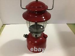 VINTAGE Cherry RED 2/73 SINGLE MANTLE COLEMAN LANTERN 200A February 1973