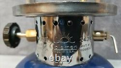 Vintage 1940 Coleman Original Model 243A Blue & Black Single Mantle Lantern USA
