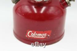 Vintage 1960 COLEMAN Model 200A Red LANTERN