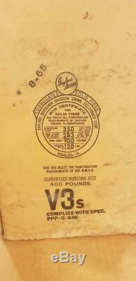 Vintage 1965 Coleman Military Gas Leaded Fuel Lantern Original Box Used gasoline