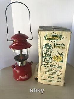 Vintage 1966 Red Coleman Lantern Model 200 Made in Canada