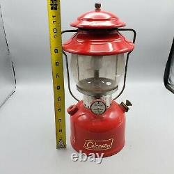 Vintage 1969 Coleman Model 200A Lantern Red Single Mantle Made in USA