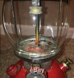 Vintage 1970 Coleman 200a The Sunshine Of The Night Lantern Pyrex Globe Unfired