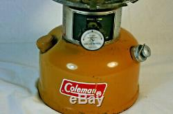 Vintage 1973 Coleman Gold Bond Yellow 228H Lantern Goldbond Pyrex Globe USA