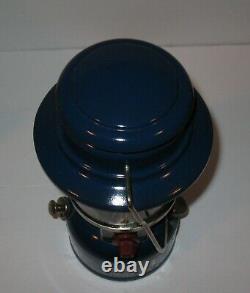 Vintage 1974 Blue Coleman Lantern no 321 & Coleman Cardboard Box Mantles