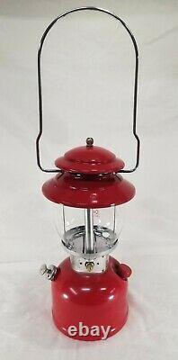 Vintage 1978 Coleman Red 200A Single mantel camping Lantern 6/78 June Unfired