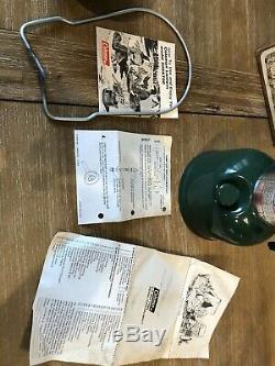 Vintage 1981 200A Green Colman lantern 2 80 Excellent Condition Original Box