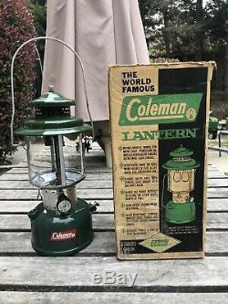 Vintage 220E Coleman Aug 1963 Lantern with Box FREESHIP