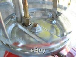 Vintage 60's Coleman Lantern 200A 10/67 1967 Red Pyrex Glass Globe