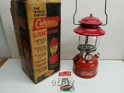Vintage 6/66 Coleman 200A Lantern Single Mantle Use or Collect w Original Box