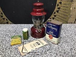 Vintage AGM 3016 Lantern & Mantles & Gulfspray, & Instructions & Custom Wood Box