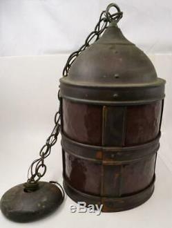 Vintage / Antique Copper Virden Hanging Lantern Medieval Style #R-1-2-#1
