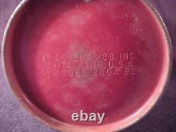 Vintage Burgundy/Maroon Coleman 200A Lantern 4-62