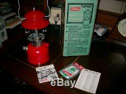 Vintage COLEMAN 200A195 Lantern RED Single Mantle 3/1977 with Box