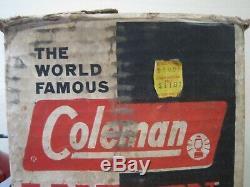 Vintage COLEMAN 200A Red LANTERN 1962 USA Original Box EXCELLENT