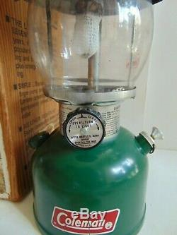 Vintage COLEMAN MODEL 200A700 SINGLE MANTLE GREEN LANTERN Dated 7-81 IN BOX