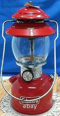 Vintage COLEMAN SingleMantle Lantern 200A Red Original Box funnel+paperwork 9/78
