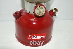 Vintage Coleman 200A BURGUNDY Lantern 10/61 RARE Single Mantle Camping Lantern