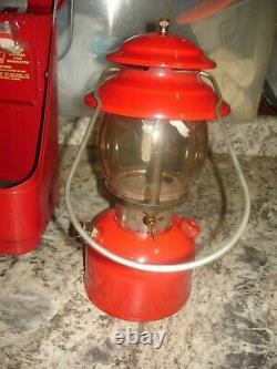 Vintage Coleman 200A Lantern 2/69 with red metal case NICE