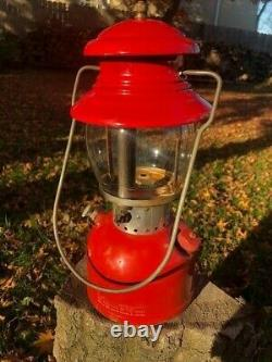 Vintage Coleman 200A Red Lantern Sunshine of the Night dated 2/56