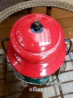 Vintage Coleman 200 Christmas Lantern 4/1951 Rare Brass Tank
