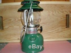 Vintage Coleman 200a700 Rare Green Single Mantal Lantern
