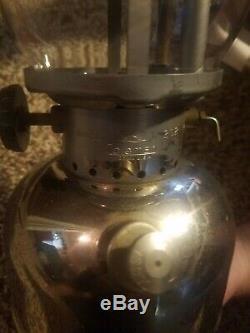 Vintage Coleman 202 Chrome Lantern, Sunshine of the Night