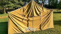 Vintage Coleman Canvas cabin tent Nice! 8492-A820 11'2 x 8'2