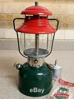 Vintage Coleman Christmas Lantern Model 200 Dated 4/1951