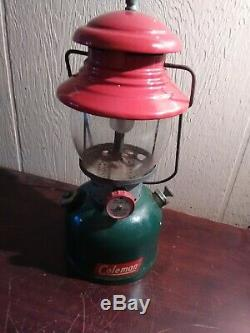 Vintage Coleman Christmas tree lantern 200A dated 9/51