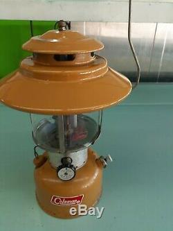 Vintage Coleman Gold Bond 228F Lantern 6/72. Original Pyrex globe