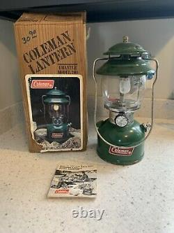 Vintage Coleman Lantern 200a 05/83 May 1983 Green Withbox