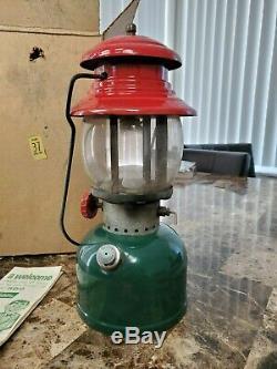Vintage Coleman Lantern 200a 1951 Christmas Lantern Red & Green Super clean