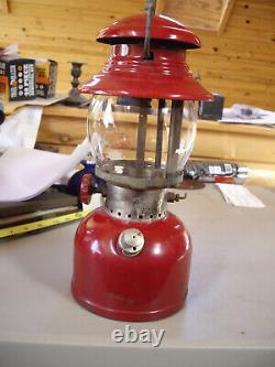 Vintage Coleman Lantern 200a Burgundy 7/1961