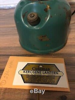 Vintage Coleman Lantern 234 Kerosene Seafoam