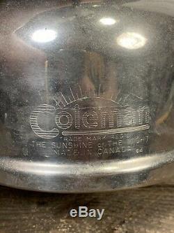 Vintage Coleman Lantern April 1964 Bublle Globe Green Sun