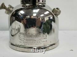 Vintage Coleman Lantern Chrome Model 242 B 7-51 July 1951 Globe Sunshine Green