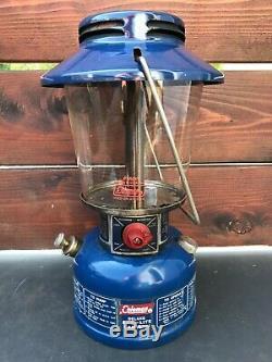 Vintage Coleman Lantern Easi Lite Blue Model 621-a 1-76 January 1976 Globe USA